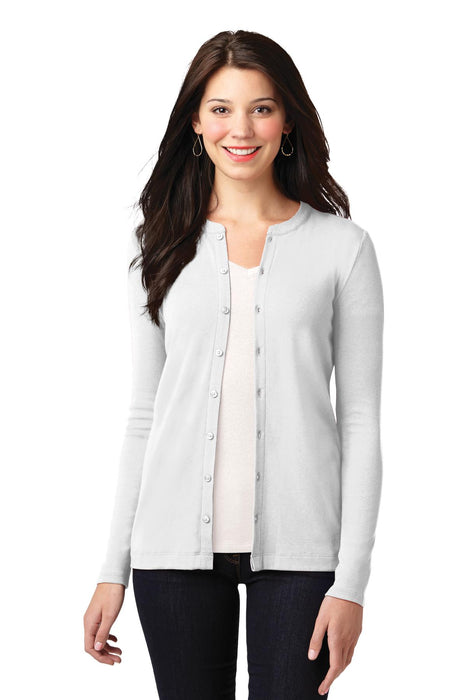 Port Authority® Ladies Concept Stretch Button-Front Cardigan. LM1008