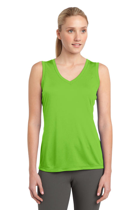 Sport-Tek® Ladies Sleeveless PosiCharge® Competitor™ V-Neck Tee. LST352