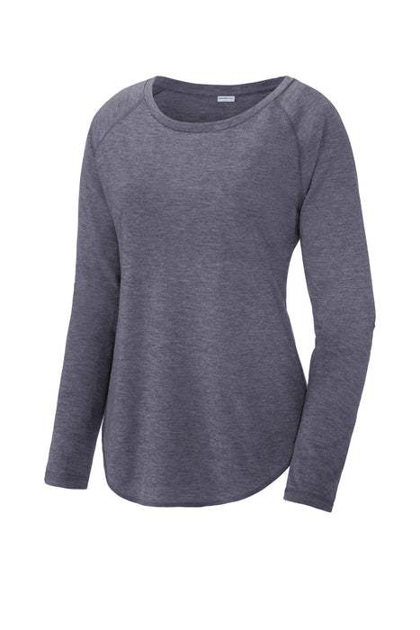 Sport-Tek ® Ladies PosiCharge ® Long Sleeve Tri-Blend Wicking Scoop Neck Raglan Tee LST400LS