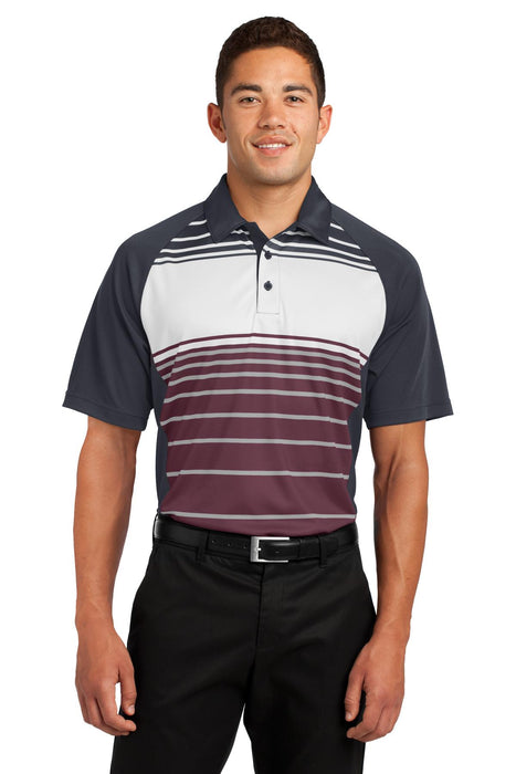 Sport-Tek® Dry Zone® Sublimated Stripe Polo. ST600