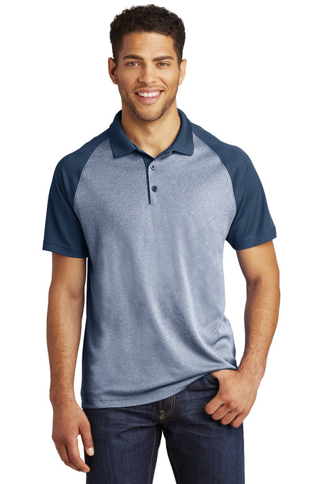 Sport-Tek ® PosiCharge ® RacerMesh ® Raglan Heather Block Polo. ST641