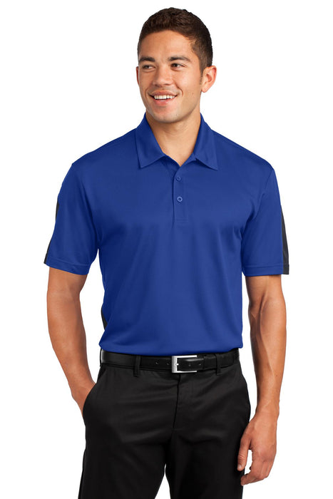 Sport-Tek® PosiCharge® Active Textured Colorblock Polo. ST695