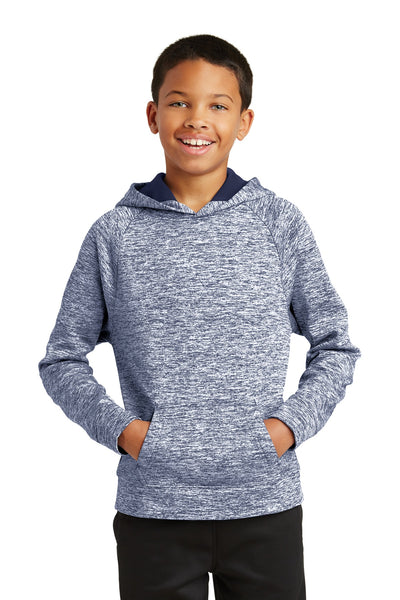 Sport-Tek® Youth PosiCharge® Electric Heather Fleece Hooded Pullover. YST225