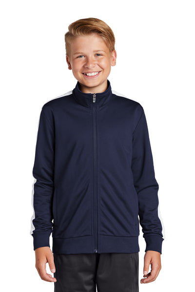 Sport-Tek ® Youth Tricot Track Jacket. YST94