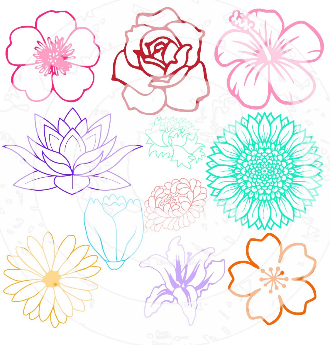SVG Flowers SVG Bundle - JPIBlanks.com