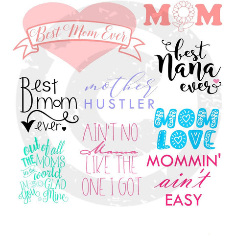Mom Bundle SVG - JPIBlanks.com
