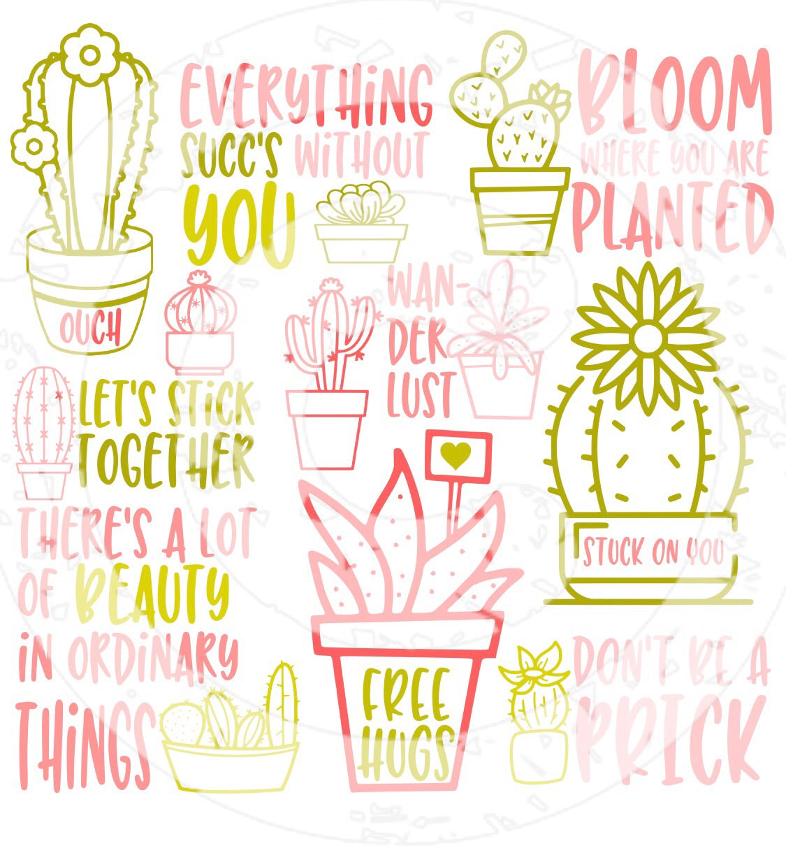 Succulents SVG Bundle - JPIBlanks.com