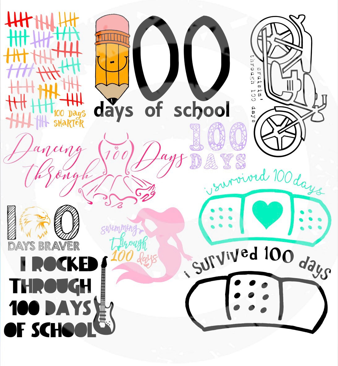 SVG 100 Days of School BUNDLE - JPIBlanks.com