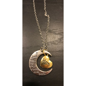 I love you to the moon and back mom necklace - JPIBlanks.com