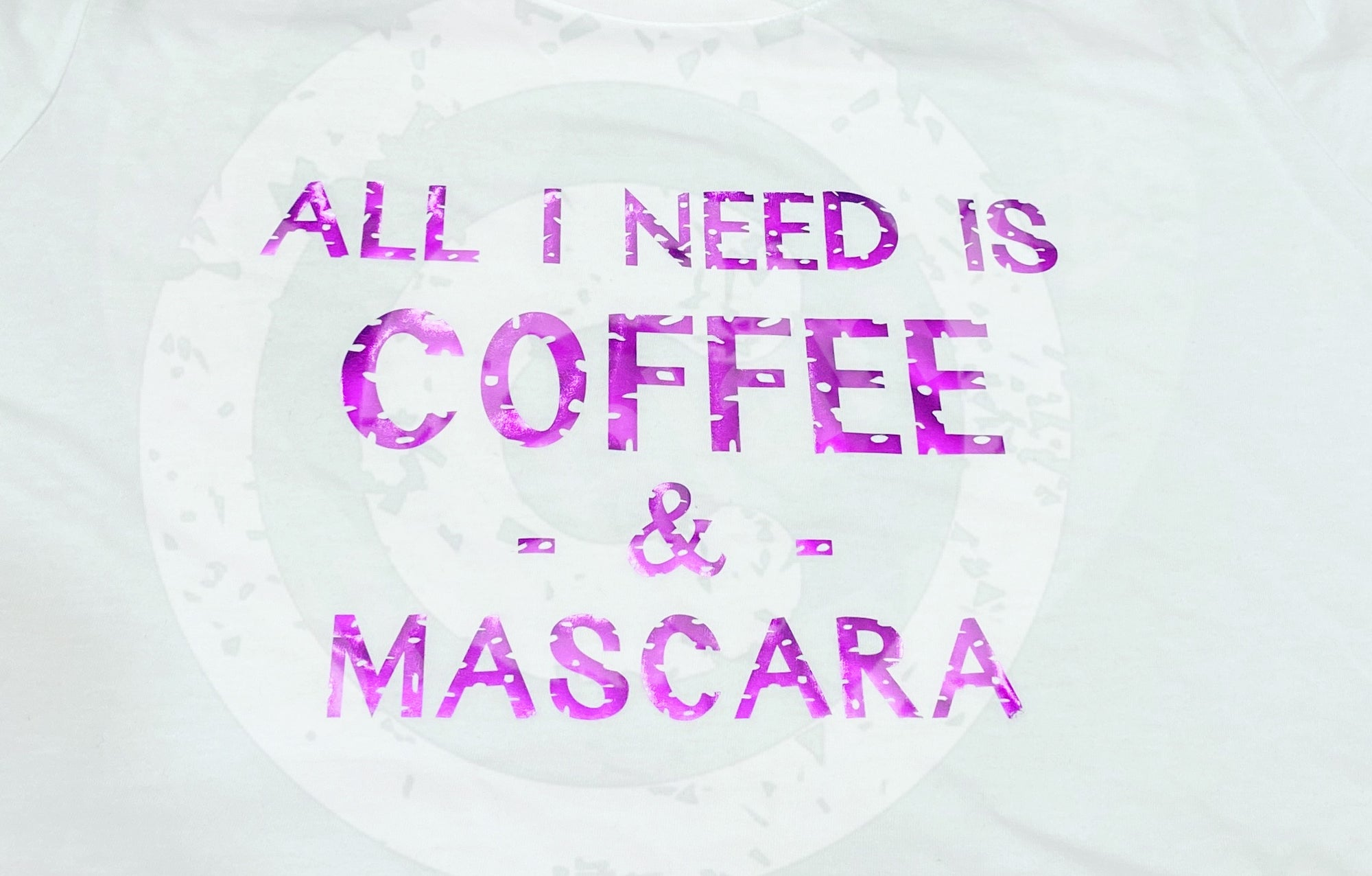 ALL I NEED IS COFFEE & MASCARA (DISTRESSED) SVG FILE - JPIBlanks.com