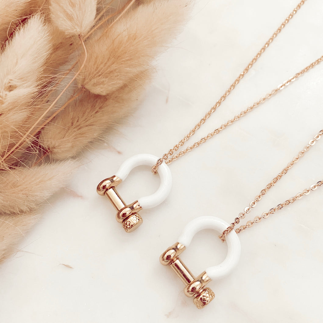 White + Gold Necklace