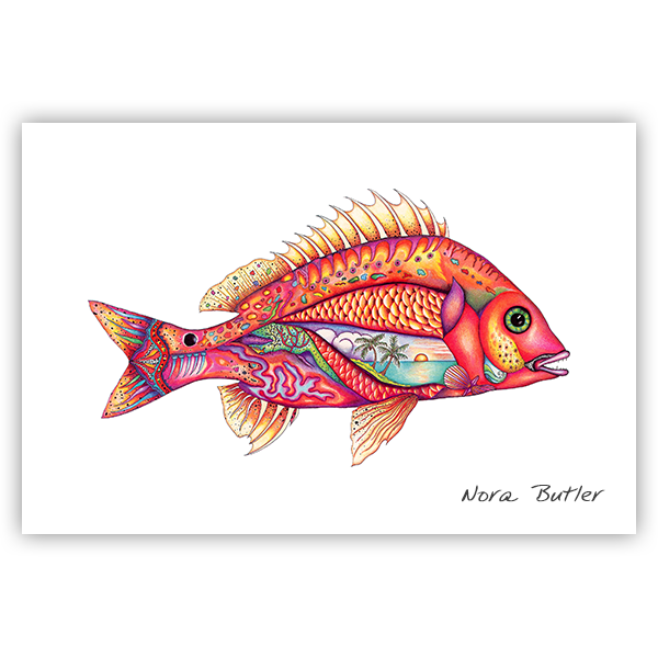 Fantasy Fish Prints by Nora Butler