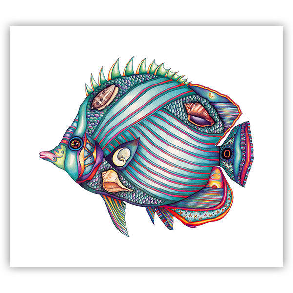 Shell Fish Original artwork by Nora Butler