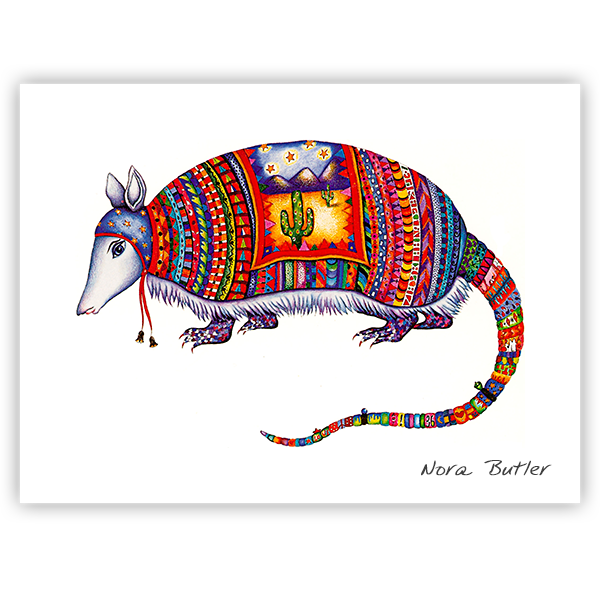 Royal Armadillo Print by Nora Butler
