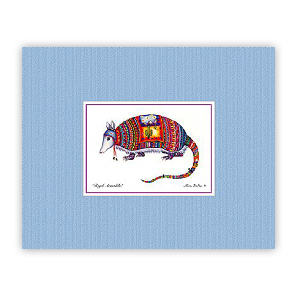 Royal Armadillo Mini-Print by Nora Butler
