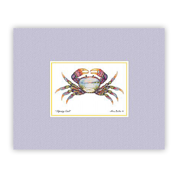 Tapestry Crab Mini-Print by Nora Butler