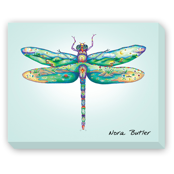 Damselfly II Giclee on Canvas