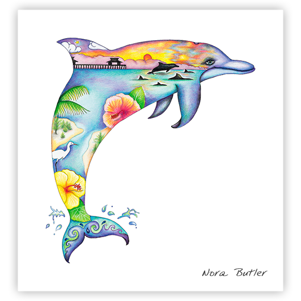Dolphin Dream II by Nora Butler