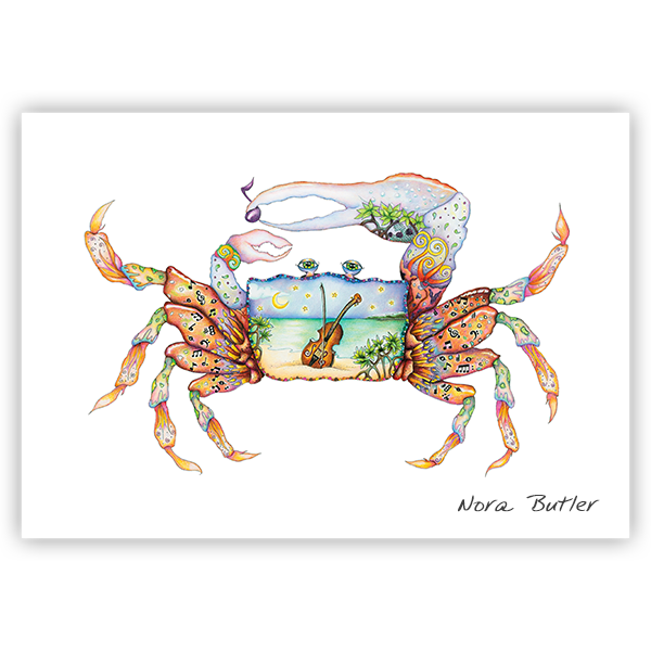 Fiddler Crab Print by Nora Butler