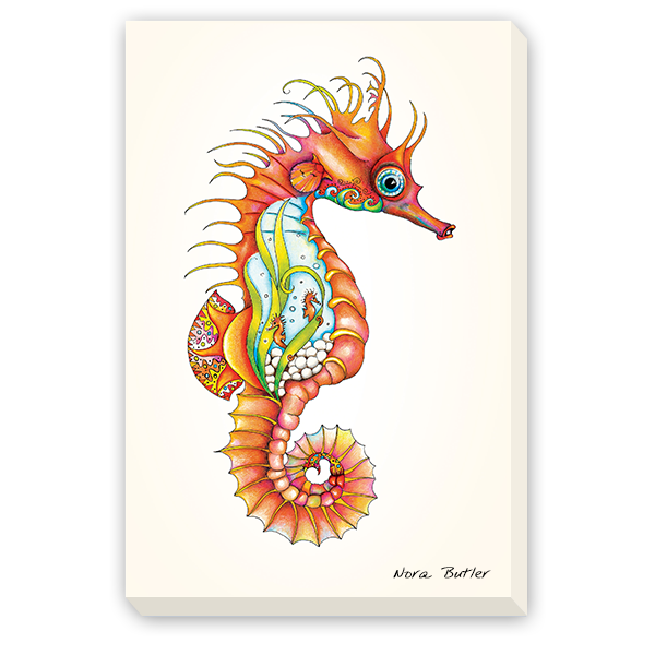 Giclees on Canvas - Reef Rider Seahorse
