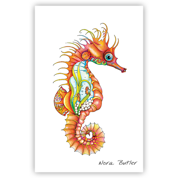 Reef Rider Seahorse Limited Edition Print