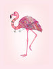 A Night On the Town Flamingo Giclee on Canvas