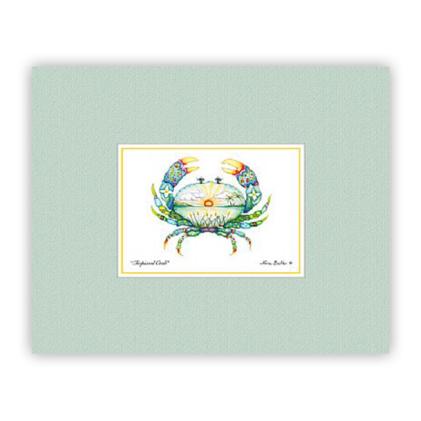 Tropical Crab Mini-Prints by Nora Butler