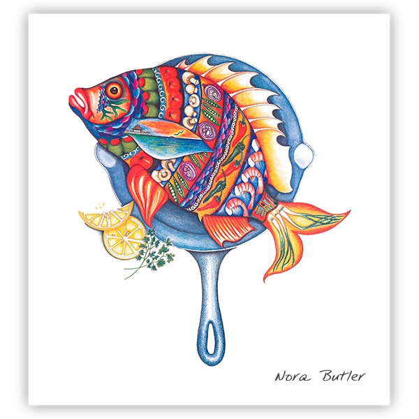 Fish Fry Prints by Nora Butler