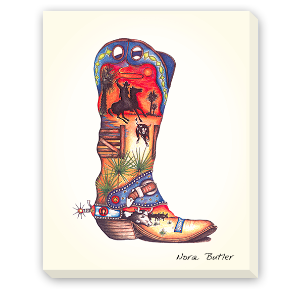 Giclees on Canvas - Stampede Boot