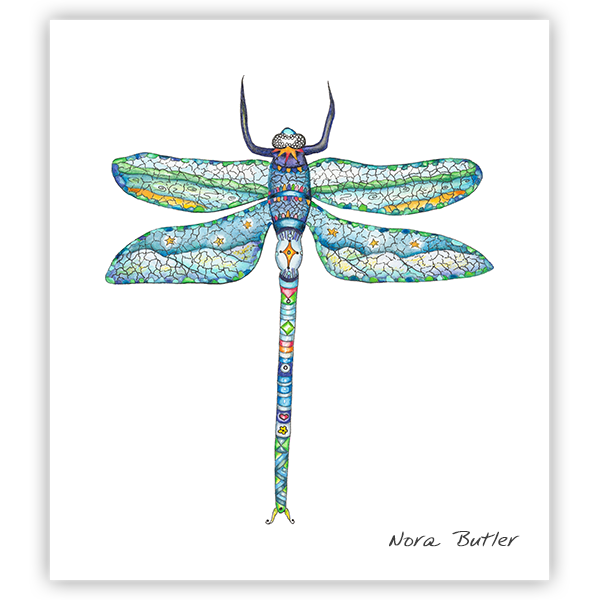 Damselfly Print by Nora Butler