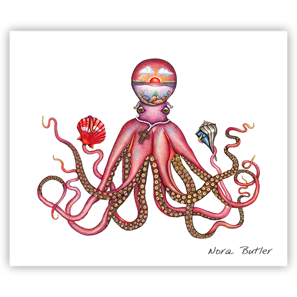 Deep Sea Mystic Print by Nora Butler
