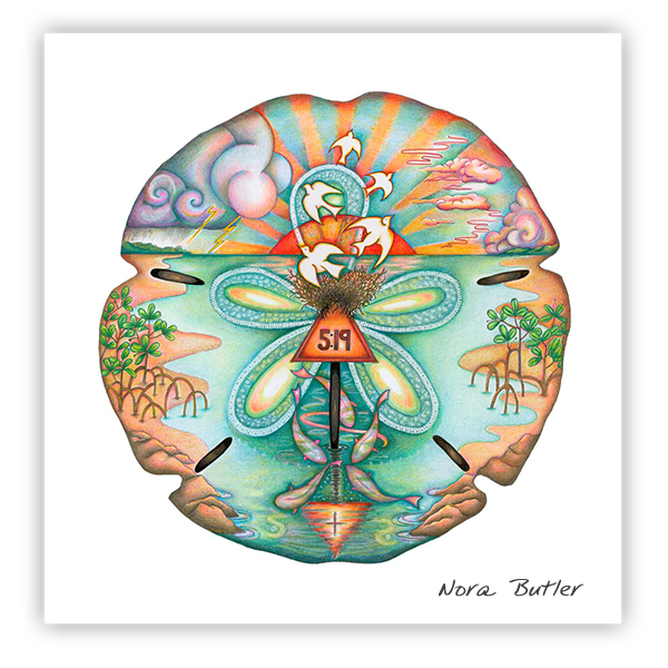 Sand Dollar Prints by Nora Butler