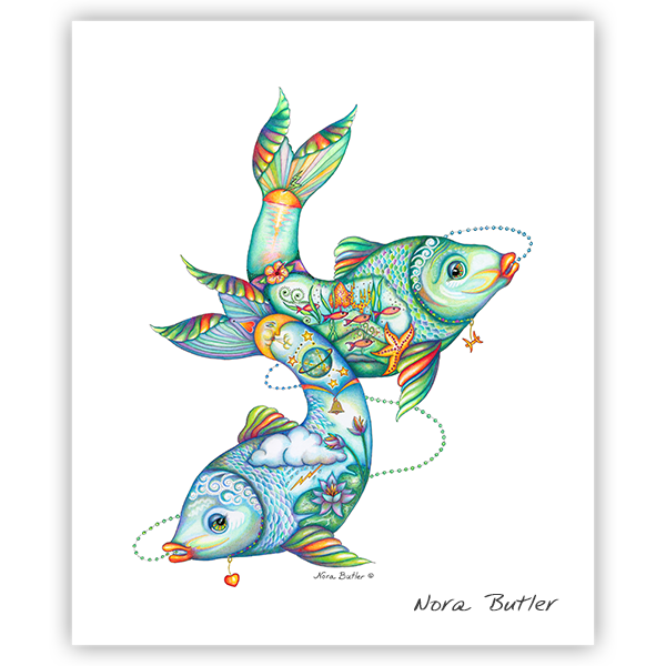 Pisces Original artwork by Nora Butler