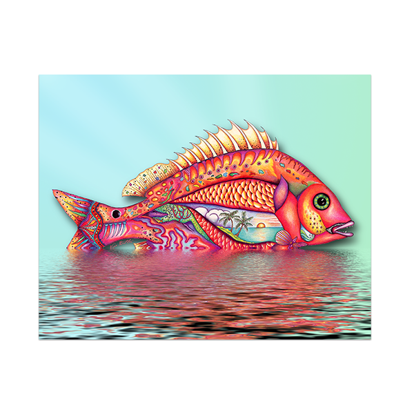 8x10 Fish In Water Canvas