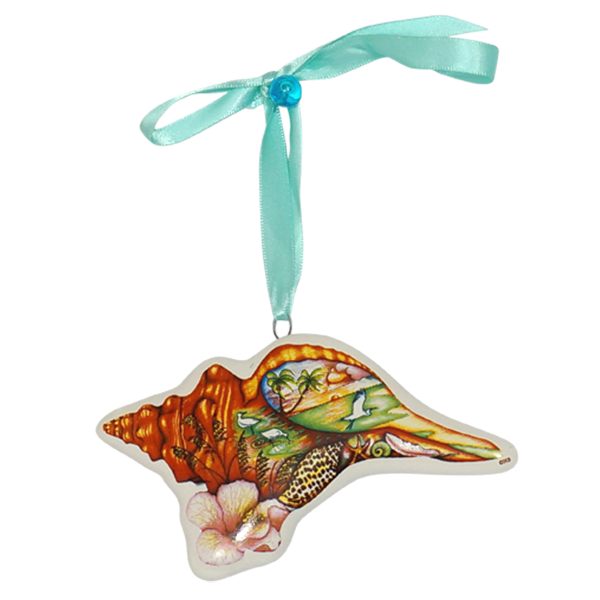 Horse Conch Tree Ornament