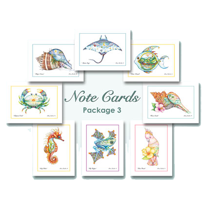 Notecards with original artwork by Nora Butler