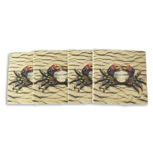 Tapestry Crab Coasters (set of 4)