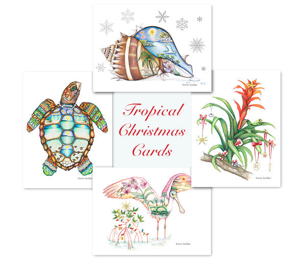 Tropical Christmas Cards (Set of 5)