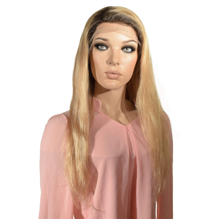 Alex Blonde Silk Top Hidden Knots Lace Wig 1