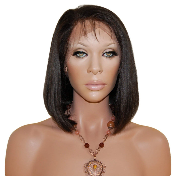 Anjene: Custom Bob Styled Human Hair Full Lace Wig - De Novo Hair