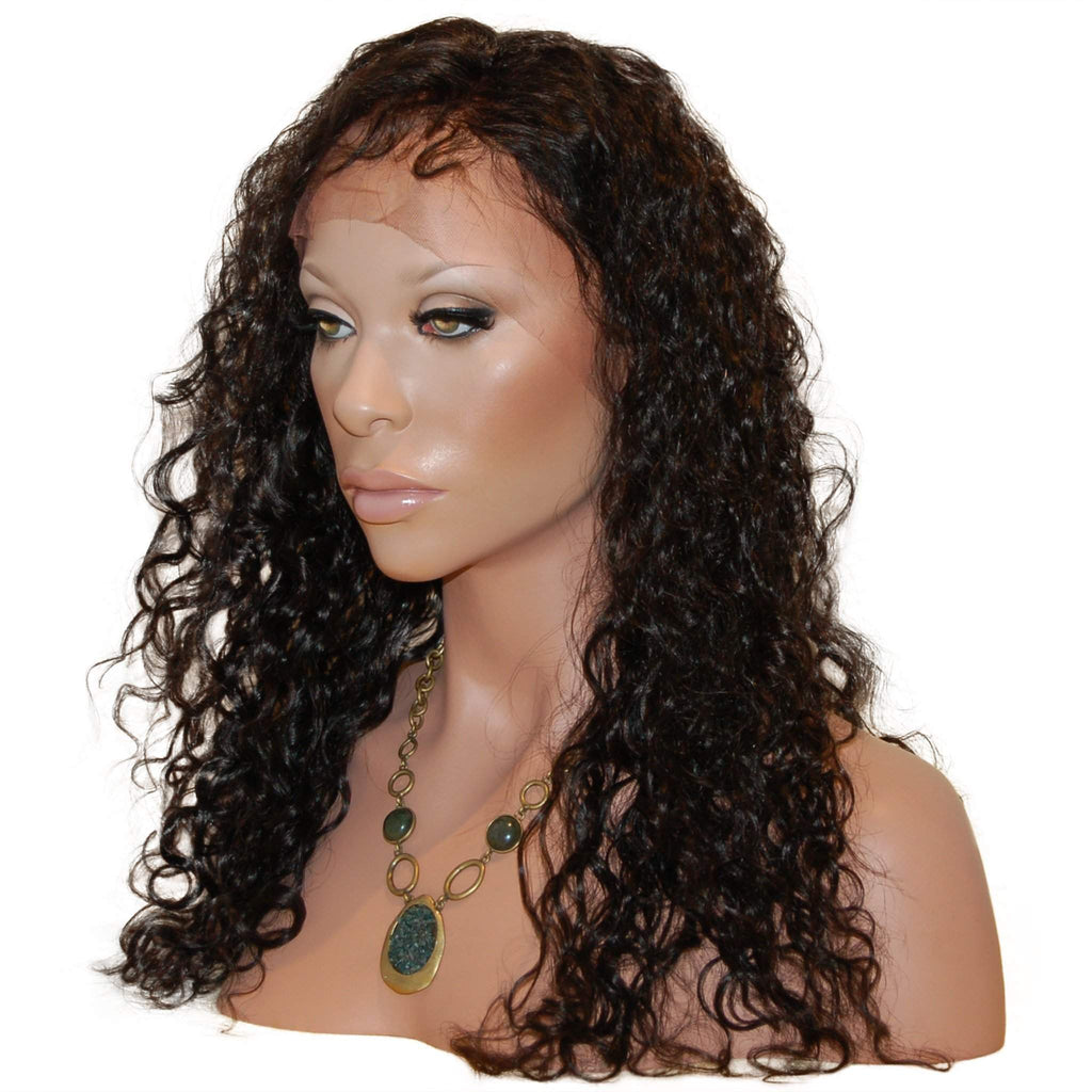 Courtney: Custom Wavy Full Lace Wig - Side - De Novo Hair
