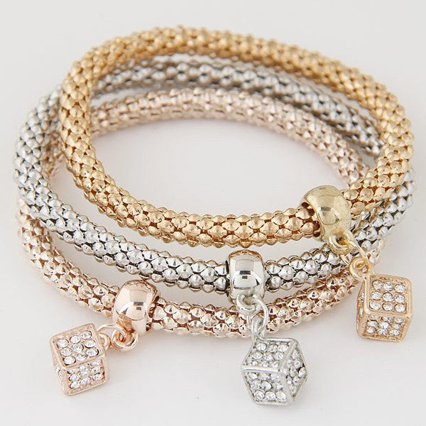 Enchanting Charm Bracelet (3-Piece Set) - 15 Designs