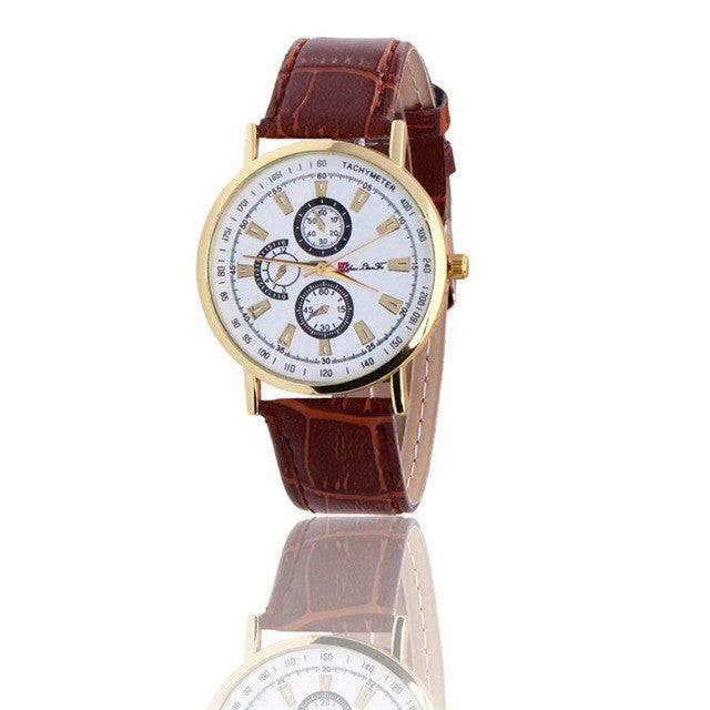 Luxury Gentlemen Rome Watch - 5 Colors