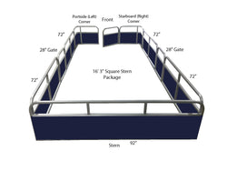"16'3"" Pontoon Fence Package"