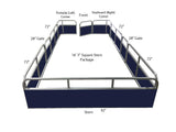 "16'4"" Square Stern Fence Package - FenceForPontoons.com"