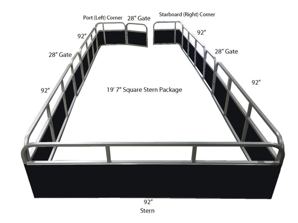 "19'7"" Pontoon Fence Package - FenceForPontoons.com"