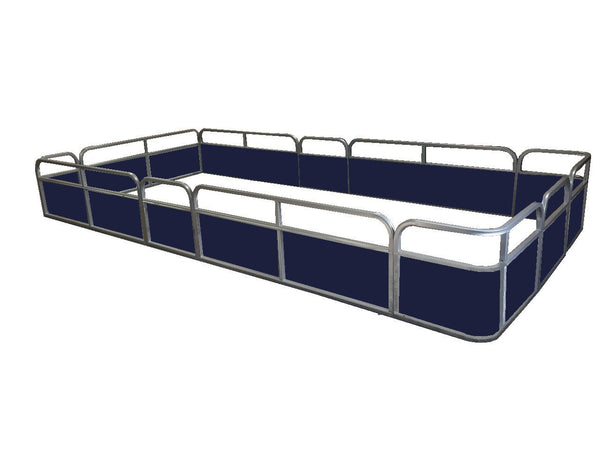 "19'8"" Stern Entry Fence Package - FenceForPontoons.com"