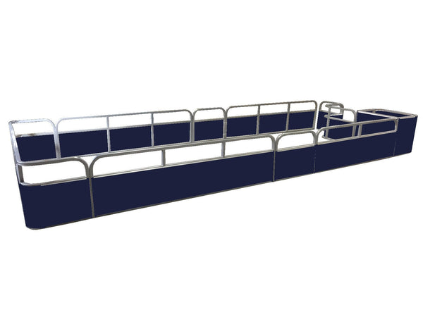 "21'8"" Sundeck Stern Entry Fence Package - FenceForPontoons.com"