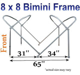 8'x10' Deluxe Frame & Fabric Kit - FenceForPontoons.com