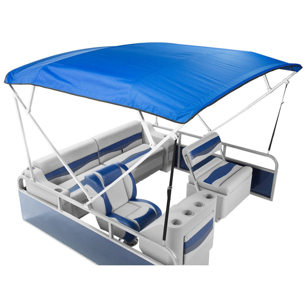 Economy 8x8 Pontoon Boat Top Kit - FenceForPontoons.com